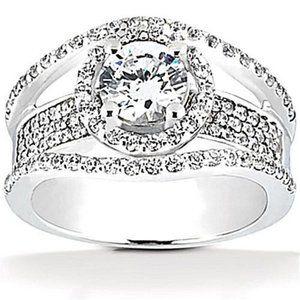 2.85 Ct. diamonds ring white gold wedding ring
